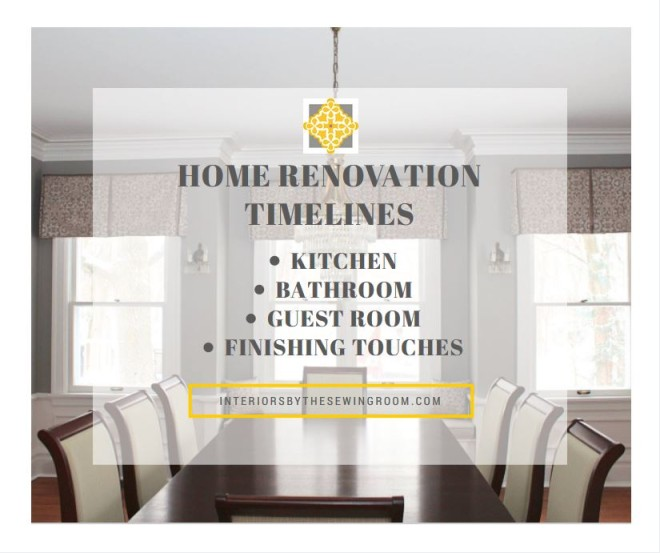 Interiors By The Sewing Room Home Renovation Timelines For Your - Bathroom renovation timeline