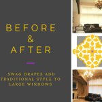 Before & After: Traditional Style Swag Drapes for Large Windows
