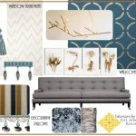 Living Room Design Board: Metallic for the Holidays