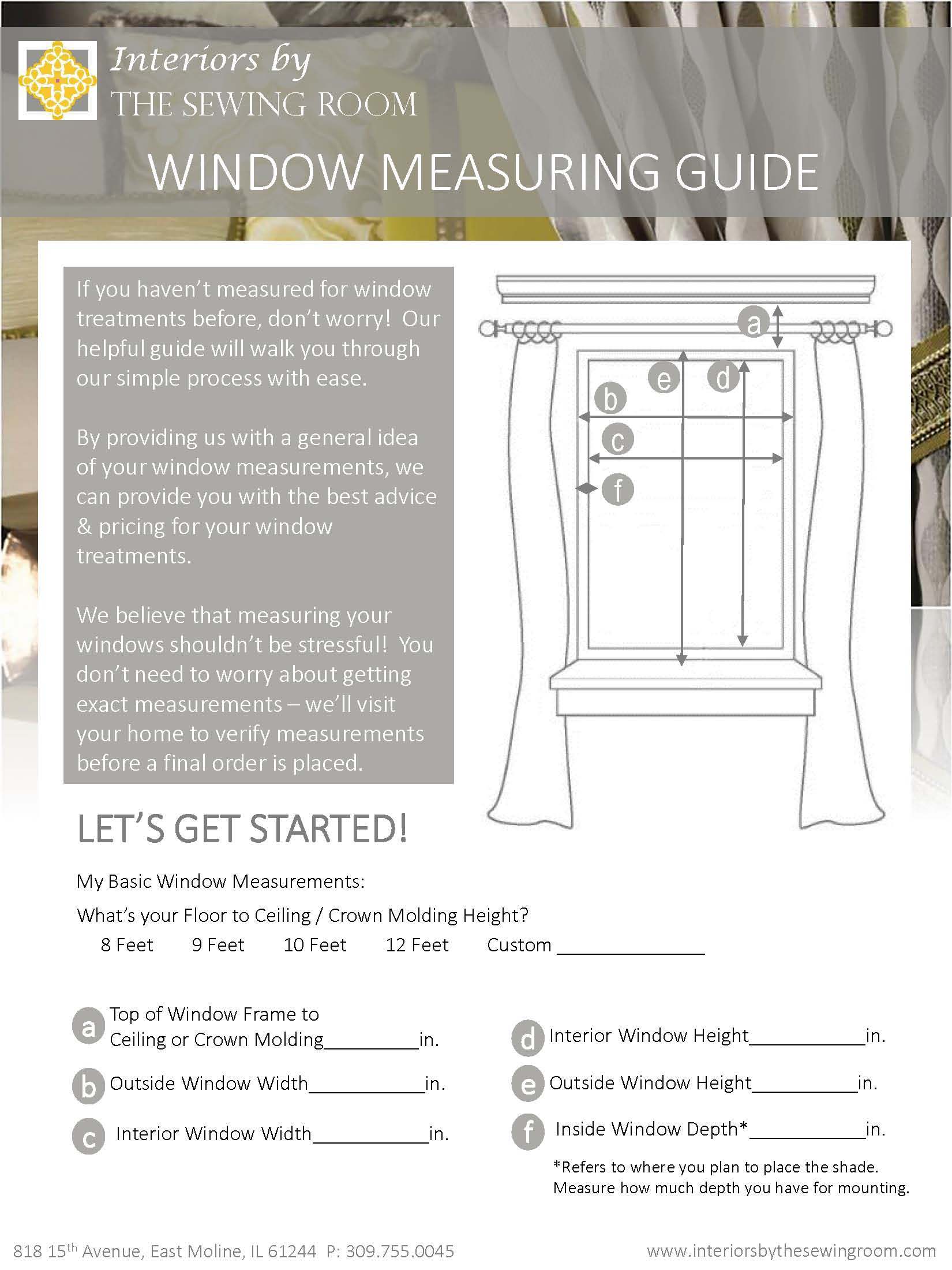 Window Measuring Guide