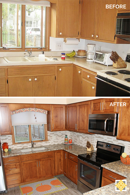 Interiors By The Sewing Room Before After Kitchen Remodel On A Budget