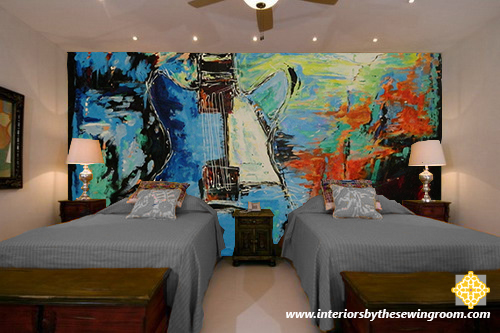 Johnny B Bedroom Mural - Interiors by The Sewing Room