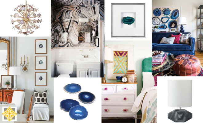 Interior Design Trends: Semi-Precious Stone Accents - Interiors by The Sewing Room