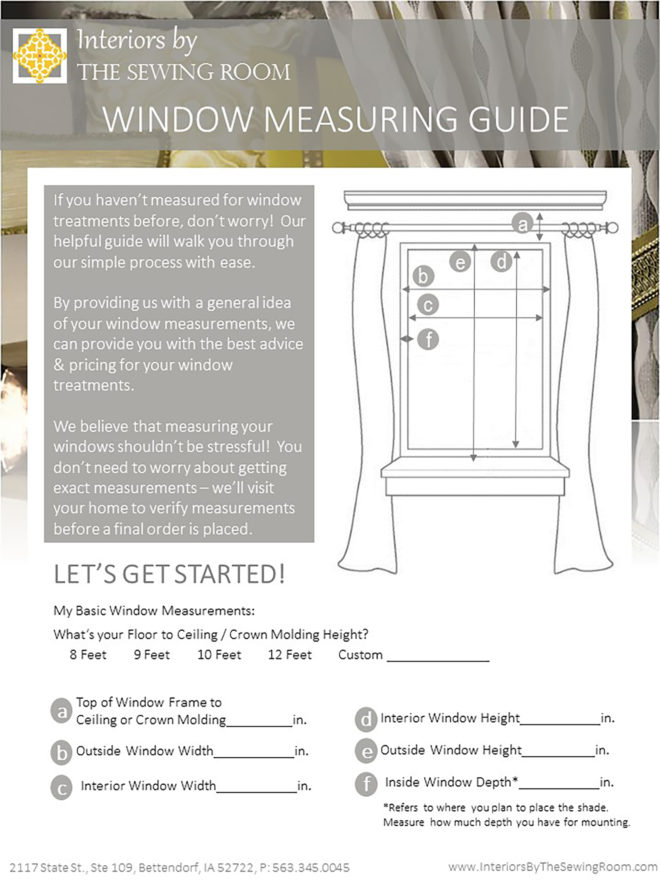 window measuring guide - follow the instructions